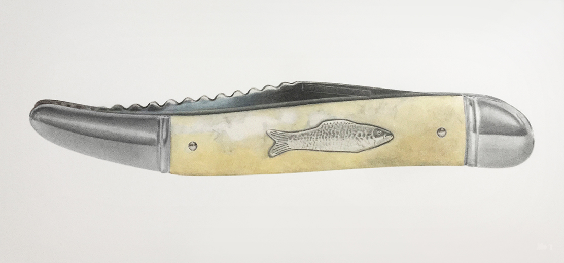 Imperial Fishing Knife art drawing