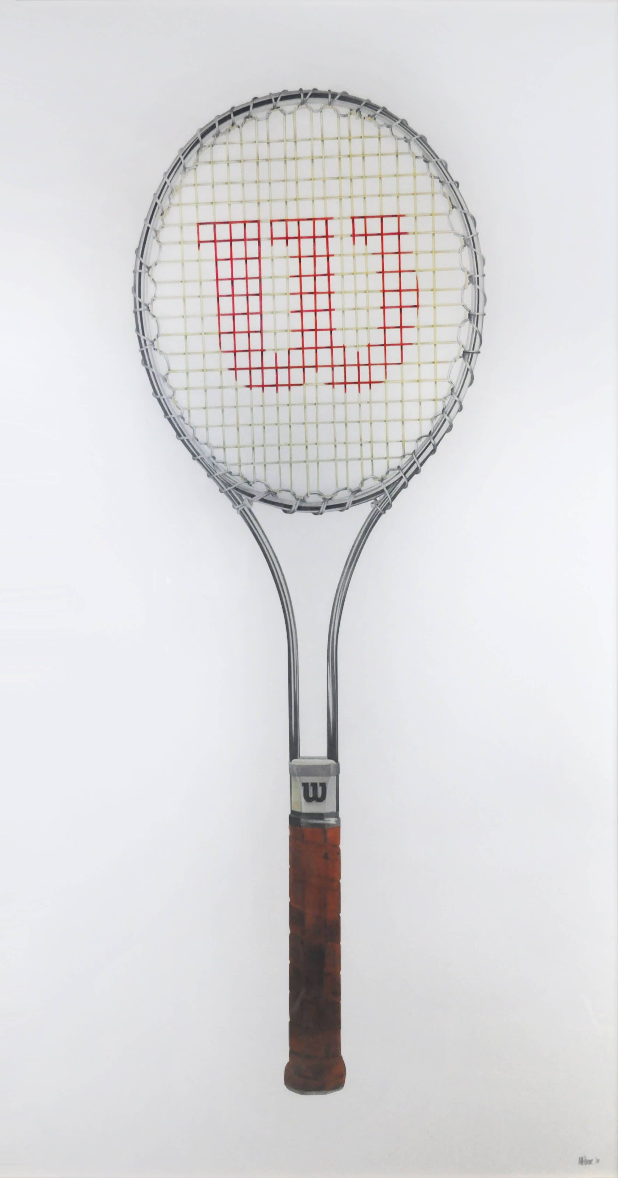 Wilson T2000 Tennis Racquet art drawing