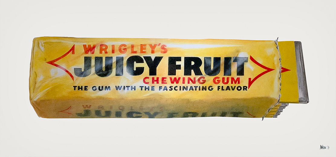 Juicy Fruit Gum art drawing